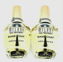 Lot of 2 Milani Base Coat Nail Polish Treatment Clear #03 Quick Ship US ... - $5.71