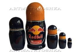 "Max Verstappen Red Bull nesting doll matryoshka babushka doll 5 pc, 6"" image 2"