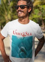 Under The Sea Shark T Shirt funny retro horror movie parody graphic tee shirt image 3