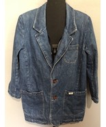 GUESS Womens Jean Jacket Georges Marciano SZ 12 L Vintage 90's USA Denim... - $117.46