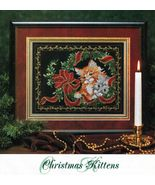 Cross Stitch Framed Christmas Kittens Puppy Scarecrow Harvest Helpers Pa... - $11.99