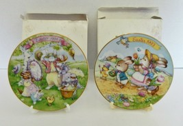 Avon Easter 5 Inch Plates 1993 Easter Parade 1994 All Dressed Up 22K Gold Trim - $14.73