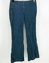 Ann Taylor Loft 6 Dress Pants Chambray Stretch Women's Career Slacks Blue - $10.69