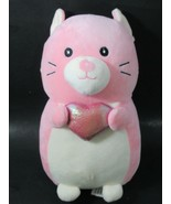 Squishmallows Hug Mees Cam the Cat Pink holding heart Valentine's day Ke... - $16.82