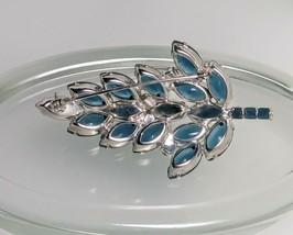 Juliana DE Leaf Blue Rhinestone Brooch - $79.99