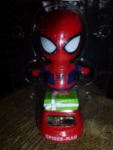 Marvel Spiderman Red Solar Bobble Head Dancer Figurine New  - $7.91