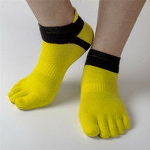 3 Pairs Sport Running Socks Men Pure Cotton Breathable Five Finger Compr... - $11.99