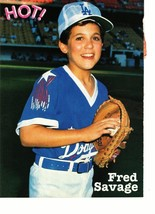 Fred Savage Tommy Page teen magazine pinup clipping holding a baseball