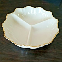 Lenox Ivory Symphony 24K Gold Trim Three 3 Divided Candy Dish - $15.99