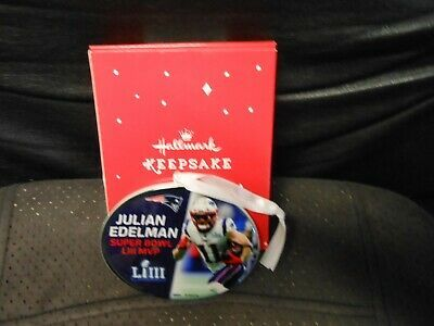 "Primary image for Hallmark Keepsake ""Julian Edelman - Super Bowl MVP"" 2019 NEW Ceramic Ornament"