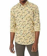 Goodthreads Men's Slim-Fit Long-Sleeve Printed Poplin Shirt,Brown Duck Print NEW image 3