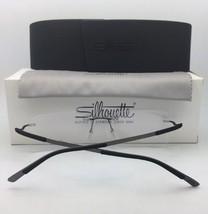 New SILHOUETTE Eyeglasses SPX 2906 75 9060 49-18 Matte Black & Gunmetal ... - $299.95