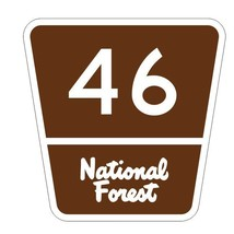 National Forest Route 46 Sticker R3377 Highway Sign - $1.45+