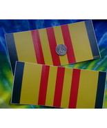 lot of 2 decals 3X6.5 Vietnam Colors Colours Viet nam Vet Cong Hoa outsi... - $9.90