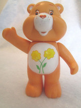 "CARE BEARS Orange Friend Bear 4"" Rattle Plastic VTV Figure Playmates Toy... - $9.98"