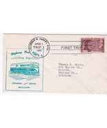 FIRST TRIP H.P.O. COLUMBUS & DURANT MISS JUNE 1 1949 TRIP 1 - $1.98