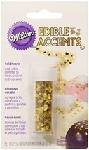 Wilton Gold Heart Edible Accents, 0.06 Oz. - Cake Decorating Supplies - $18.11