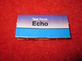 1988 The Hunt for Red October Board Game Piece: ECHO Blue Ship Tab- NATO  - $1.00
