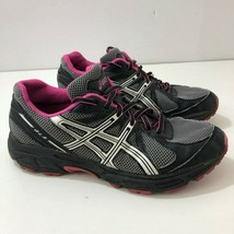 ASICS GLS T28AQ Running Shoes Sneakers Black Gray Purple Womens US Size 6.5 - $27.58