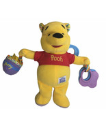 """Disney Baby WINNIE THE POOH Plush Stuffed Discover Rattle Play Stroller Toy 9"""" - $17.77"""
