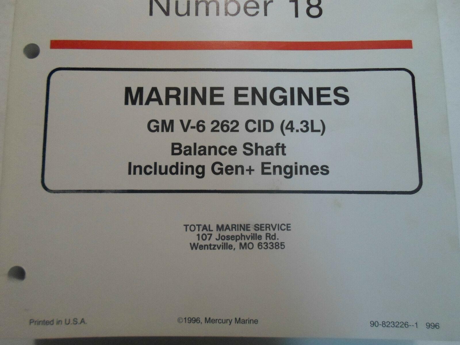 1996 Mercruiser #18 Marine Engines GM V6 262 Cid Balance Schaft Service Manuell image 2