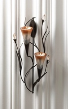 Dawn Lilies Candle Wall Sconce - $21.95
