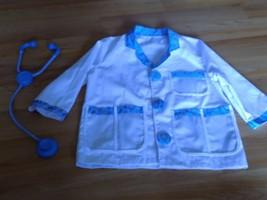 Size Ages 3-6 Melissa & Doug Medical Staff Doctor Lab Coat Costume Stethoscope  - $24.00