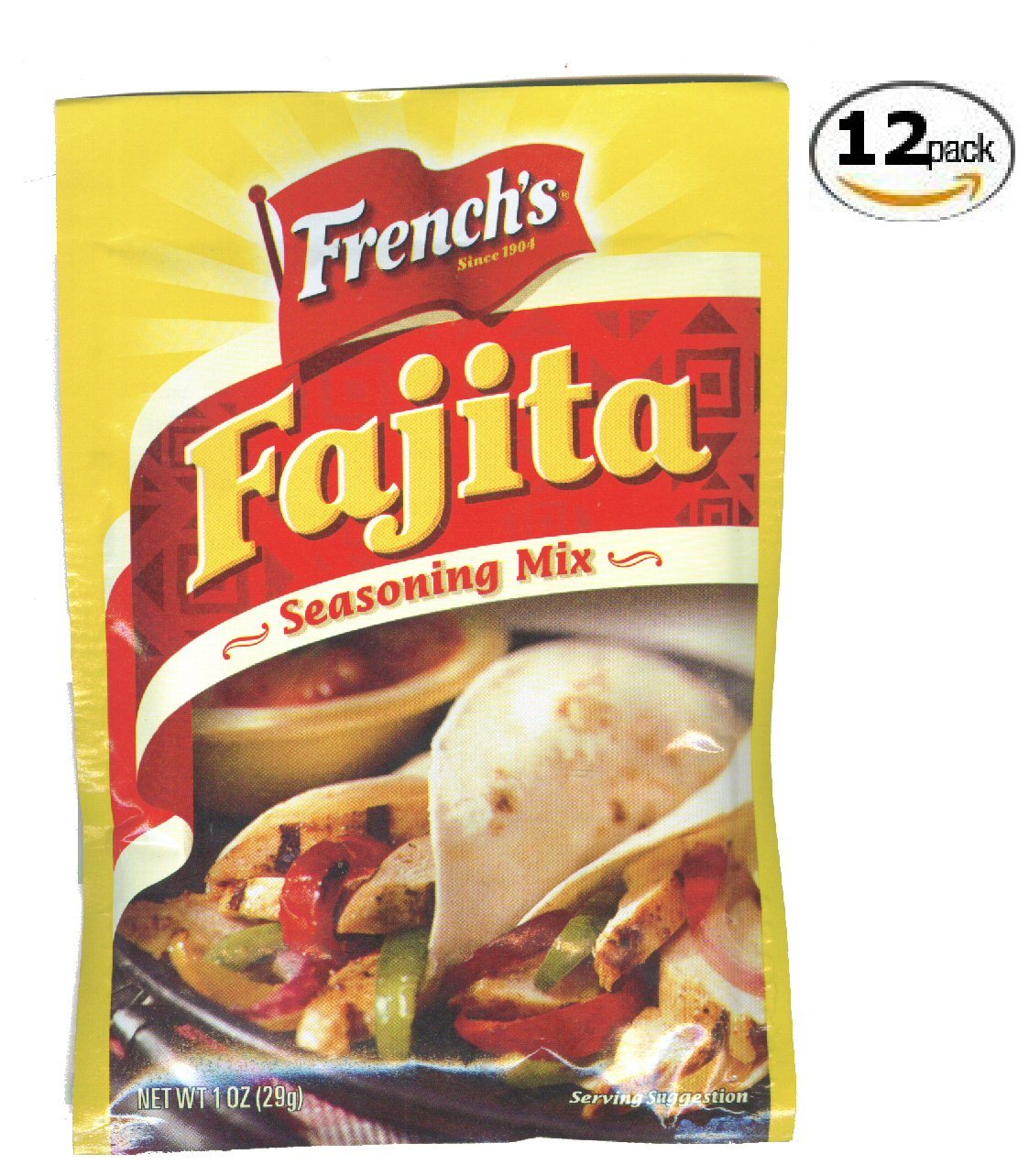 12 French's Fajita Seasoning - 1 oz packets