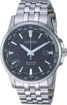 Citizen World Time Black Dial Stainless Steel Men's Watch BX1000-57E image 1