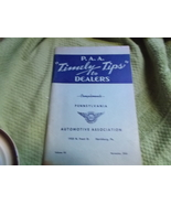 P.A.A. Timely Tips to Dealers Volume VII, Nov 1953 from Penna. Automotiv... - $30.00