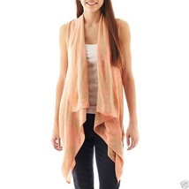 Say What Open-Front Aztec Cardigan Coral Combo Size XS, S, M, L New Msrp... - $12.99