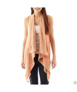 Say What Open-Front Aztec Cardigan Coral Combo Size XS, S, M, L New Msrp... - $14.99