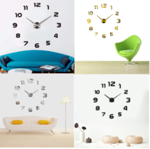Home Decoration Wall Clock DIY 3D Big Modern Antique Style For Living Room - $18.79+