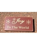 Primitive Wood Block 6099 - Joy to the World  - $2.95
