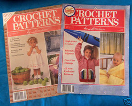 CROCHET PATTERNS BOOKLET by HERRSCHNERS JULY '89 & '90 - $5.93