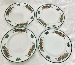 Johnson Bros Victorian Christmas Made In England Set Of 4 Dessert Salad ... - $53.99