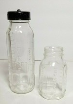 Vintage Evenflo Glass Baby Bottles 8 ounce and  4 ounce - $10.10