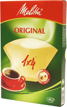 GENUINE MELITTA 40 COFFEE FILTER PAPERS 1 x 4 CUP coffee MAKING coffee M... - $2.34