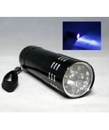 9 UV BLACKLIGHT ULTRA VIOLET LED FLASHLIGHT TORCH LIGHT LAMP 9 BULBS CAM... - $5.69