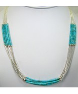 Southwestern Hand Crafted 5 Strand Turquoise st... - $237.00