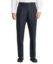 Brooks Brothers Mens Navy Blue Regent Linen Flat Front Pants 34R Regular... - $114.05