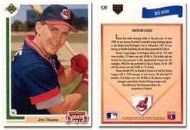 1991 Upper Deck Final Edition Jim Thome Rookie Baseball Card #17F - Ship... - $2.99