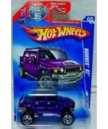 Hot Wheels Hummer H2 2009 Dream Garage 151/190 Purple P2471 Battle Force 5 - $7.99