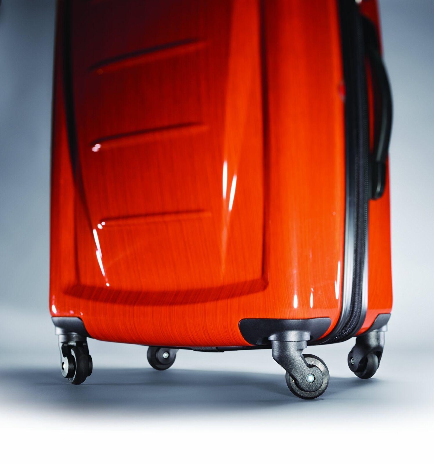 """28"""" Expandable Spinner Luggage Polycarbonate Rolling Suitcase TSA Lock Orange image 3"""