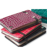Snakeskin Credit Card Wallets Fuchsia - $10.95