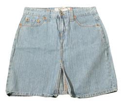 Womens Blue LEVIS 518 Super Low Denim Skirt 5 Ramie Cotton Blend - $8.54