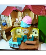 Huge lot Calico Critters Luxury Townhouse Chipmunk Rabbit Ice Cream Parlor - $69.30