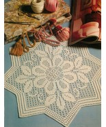 6X Cherokee Rose Wicker Rosette Triple Treat Bit of Luck Crochet Doily P... - $9.99