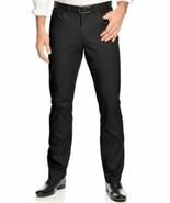Alfani Red Mens Slim-Fit Cotton Stretch Pants Black Casual Chinos 36 x 32  - $14.80