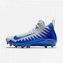 Nike Alpha Menace Sz12 Pro Mid Fb Cleats White Blue 871451-144 #Nike #Football - $33.54